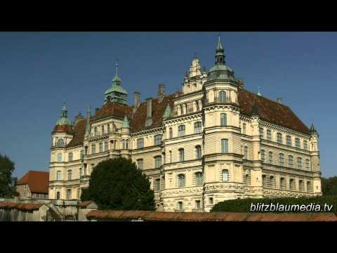 Stock Footage Europe Germany Mecklenburg Güstrow Castle Schloss Castillo Travel Tourism HD