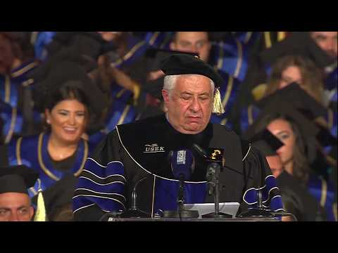 Address of Mr. Gilbert Chagoury during the Commencement Ceremony