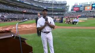 Willie Randolph on receiving his Monument Park plaque