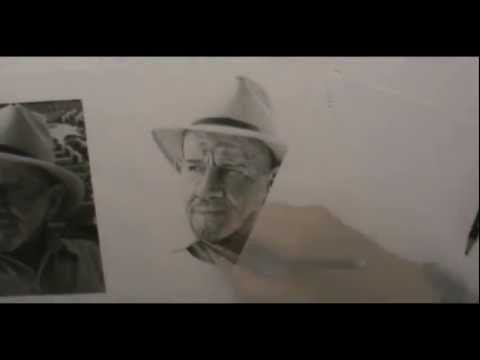 Speeddrawing Jacque Fresco - 60 hours in 3 minutes
