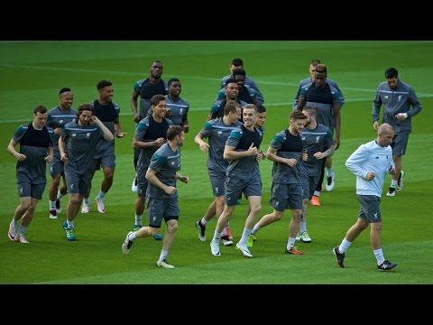 Liverpool train in Basel ahead of Europa League final vs. Sevilla
