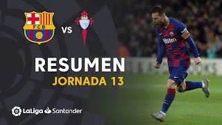 Resumen de FC Barcelona vs RC Celta (4-1)