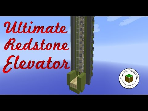 Minecraft: 1.8 Up And Down 4 Speed Redstone Elevator [Reliable]