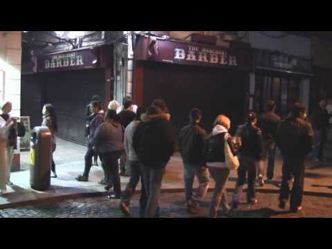 Nightlife in Dublin, Ireland.