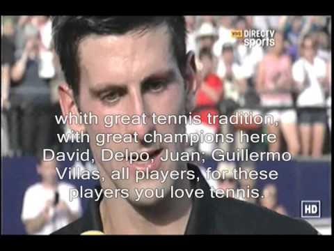 Novak Djokovic speaking Spanish (Spanish to English subtitles)