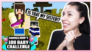 HE'S GOING TO HAVE A LITTLE SISTER! - Minecraft: 100 Baby Challenge - EP 3