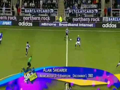 Alan Shearer's goal against Everton