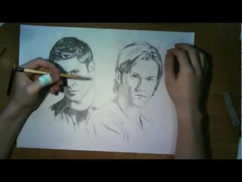 Видео как нарисовать Дженсена Эклза карандашом