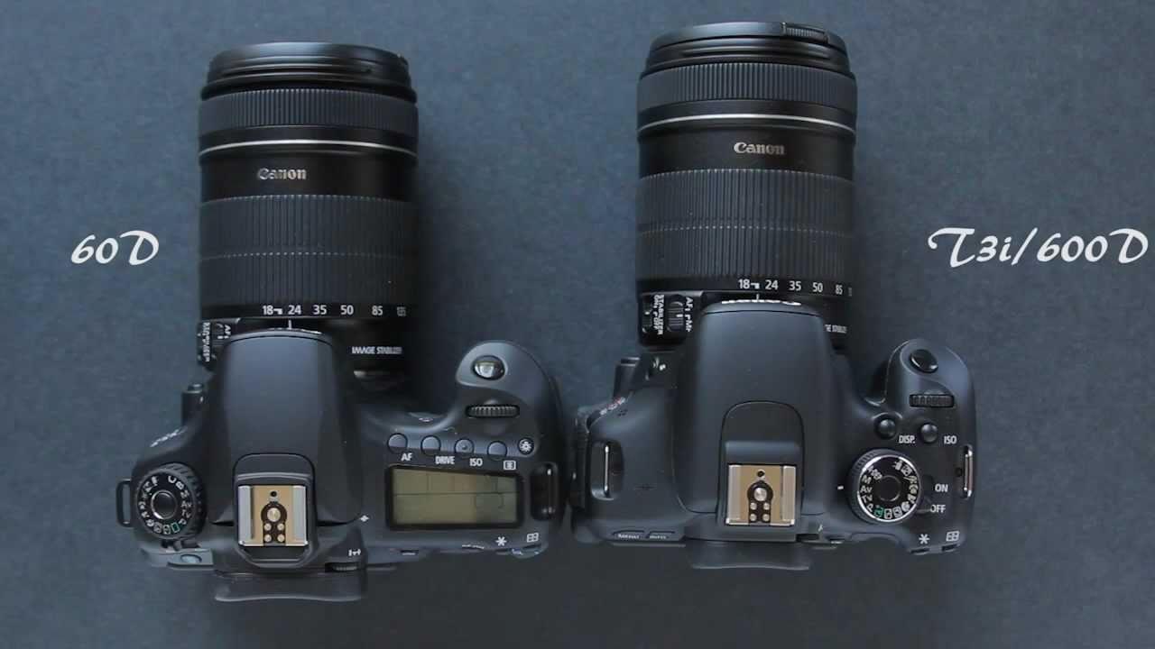 Canon 60D vs. Canon T3i/600D Comparison
