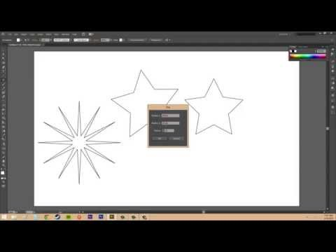 Adobe Illustrator CS6 for Beginners - Tutorial 22 - Creating Polygons and Stars
