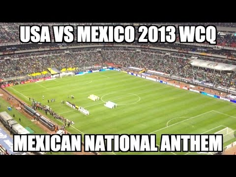 Usa Vs. Mexico 2013 Wcq - Mexican National Anthem  Azteca (himno Nacional Mexicano) video