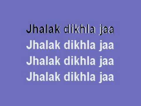 jhalak dik laja hindi karaoke song.wmv