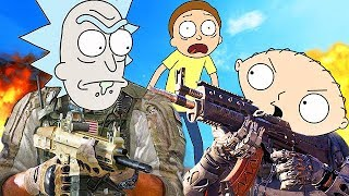 RICK AND MORTY PLAY CALL OF DUTY! (Voice Trolling Funny Moments)