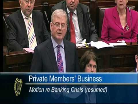 Deputy Eamon Gilmore speaking on the banking crisis