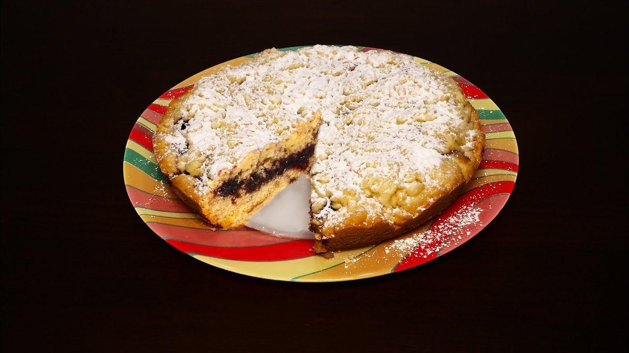 Легкий рецепт пирога с вареньем