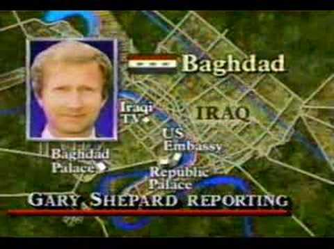 Desert Storm Begins During News Broadcast 1/2