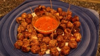 2013 Super Bowl Recipe - Stuffed Mozzarella Meatballs