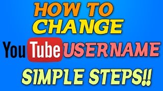 How to Change YouTube Username in one WORD! OCTOBER 2016 (Still Works)