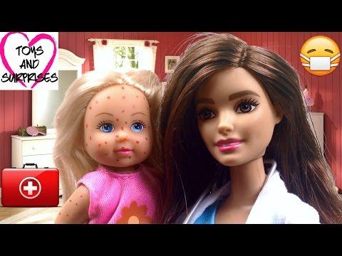 Кукла Штеффи Еви заболела ветрянкой Доктор лечит Мультфильм для девочек  Развивающие игрушки