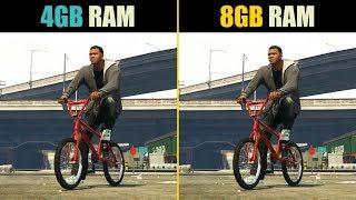 GTA 5 4GB RAM vs. 8GB RAM