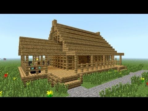 MINECRAFT: How to build little wooden house