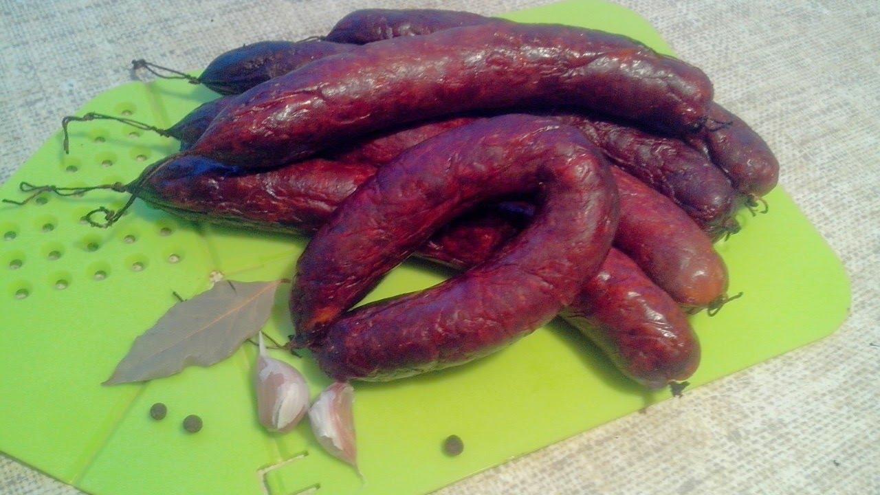 Колбаса горячего копчения в домашних условиях рецепт с фото 1