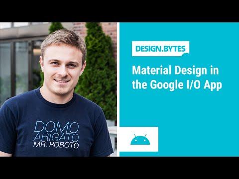 DesignBytes: Material Design in the Google I/O App