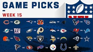 Week 15 Game Picks | NFL 2019