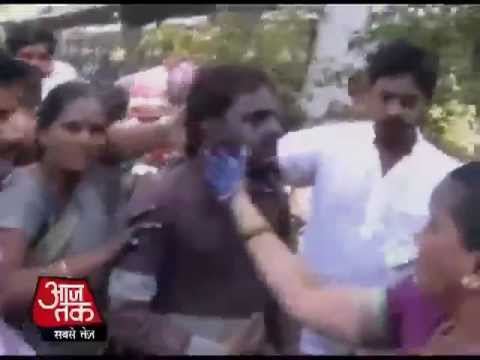 Mumbai: Ncp Women Exposed A Blue Film Seller video