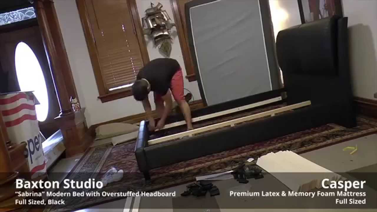 Amazons Baxton Studio Bed Fast Forwarded Unboxing And Assembly