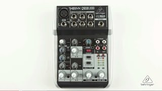 XENYX Q502USB Small Format Mixer & USB Audio Interface