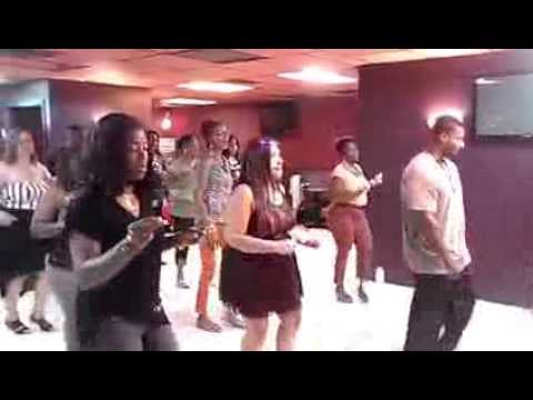 Blurred lines line dance
