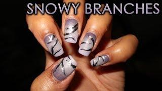 Snowy Branches | 12 Days of Christmas Nail Art | DIY Tutorial