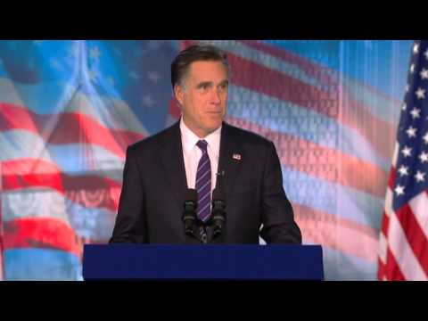 US Election 2012: Mitt Romney's concession speech after losing presidential race