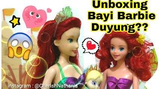 🔴 Surprise Bayi Barbie Duyung? 🔴 Bukaan Ini Mainan Anak Perempuan Merbaby - CherishNathania