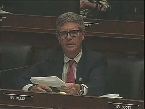 Rep. Brad Miller questions Jamie Dimon, Chairman and CEO of JP Morgan