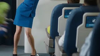 Mucinex Pantyhose Stewardess Commercial