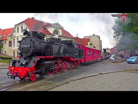 Bäderbahn Molli macht Dampf zw. Bad Doberan & Kühlungsborn