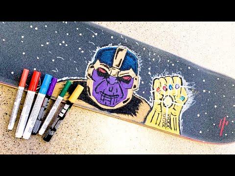 THANOS Skateboard Griptape Art Time Lapse! / Avengers ENDGAME