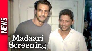 Latest Bollywood News - Special Screening Of Madaari - Bollywood Gossip 2016