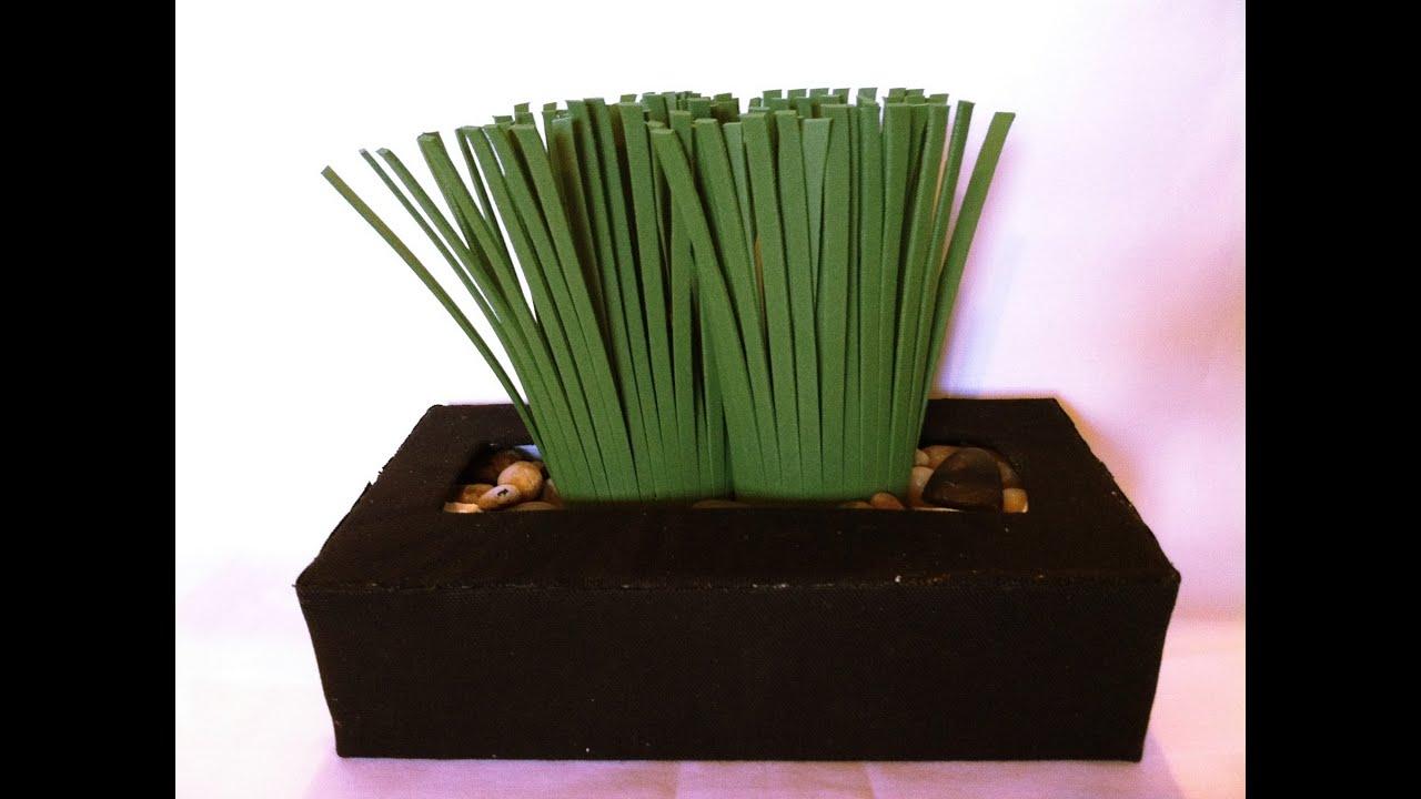 C mo hacer una planta con caja de clinex youtube - Como hacer una caja ...