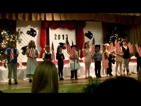 Travis' Kindergarten graduation Escambia Academy National Anthem
