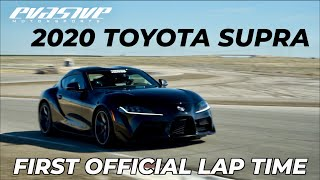 2020 Toyota Supra records first-ever lap time at Buttonwillow Raceway