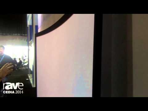 CEDIA 2014: Elite Screening Highlights Acoustic Pro 4K Curved Frame Screen