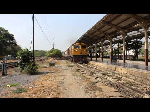 (HD) SRT. Train Spotting at Chiang Mai Station.