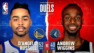 D'Angelo Russell & Andrew Wiggins Trade Buckets On Career Nights