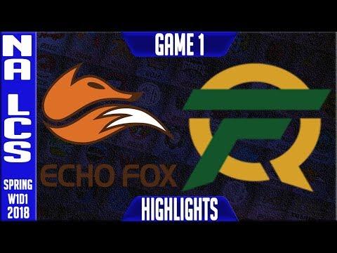 FOX vs FLY Highlights | NA LCS Spring 2018 S8 W1D1 | Echo Fox vs FlyQuest Highlights