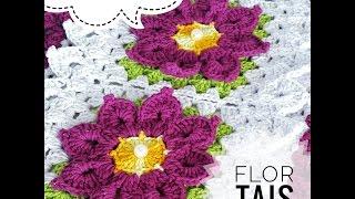 Flor Tais Crochê   Passo a Passo   Parte 1 Tapete Escama   Luana Jaworski