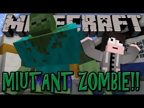 Minecraft Mod Review: MUTANT ZOMBIE!! - Mutant Creatures Mod!