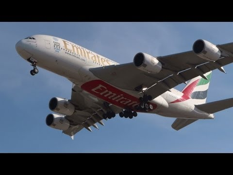1 hour of Plane Spotting @ Rome Fiumicino Airport / January 26-27 2013 / HD
